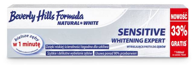 Beverly Hills Formula Sensitive Whitening Expert 75ml+33% Toothpaste