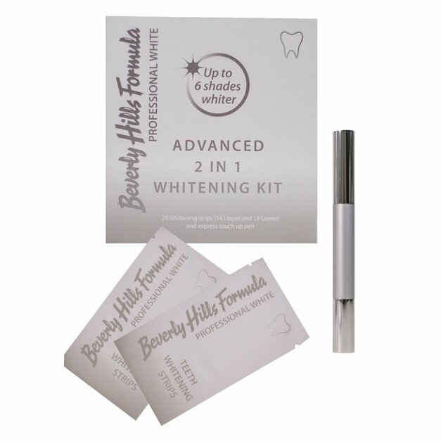 Beverly Hills Whitening KIT Profesional white 2in1 - Bieliace pásiky na zuby